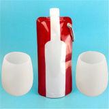 Copa de las copas de vino de silicona