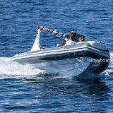 Liya Luxuxfiberglas-Rumpf-aufblasbares Boot der rippen-580 für Verkauf