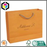 昇進のためのオレンジ色刷の方法ペーパーパッキングハンドル袋