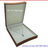 Rectángulo de madera de Brown de la pequeña joyería cuadrada hecha a mano de lujo del regalo