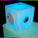 Iluminado Speaker Lighitng Cubo Vaso Diseño con altavoz Bluetooth con lámpara