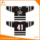 Healong bestellte Sportkleidung-volles Farben-Sublimation-Hockey Jersey voraus
