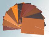 Strato arancione e nero della bachelite