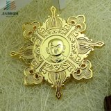Distintivo su ordine impresso di Pin del risvolto del metallo di figura della stella del metallo del campione libero