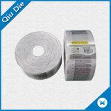 Impressão de cetim de lado único Etiqueta de lavagem / etiqueta de cuidado para venda