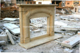 Egipto Creme Bege Antique Marble Fireplace Sy-Mf317