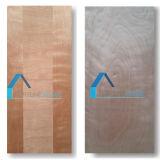 Piel moldeada/laminada del precio de fábrica de la madera contrachapada de la puerta con Sapeli verdadero
