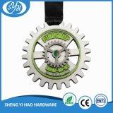 Медаль металла сувенира медведя снежка плакировкой крома с тесемкой