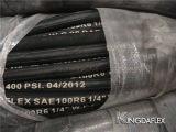 고품질 직물 땋는 SAE 100 R3 유압 기름 저항하는 고무 호스