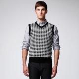 Maglione dell'uomo della maglia del collo del jacquard V del ODM