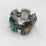 Pulsera multicolora vendedora caliente de la aleación con la pulsera de piedra de cristal de la joyería