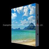 Cabina de acero al aire libre del metal P10 que hace publicidad de la visualización de LED