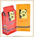 Sacchetto a chiusura lampo stampato abitudine del di alluminio del sacchetto della parte inferiore piana per l'imballaggio del caffè