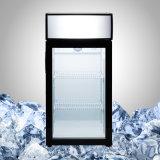 Стеклянный холодильник счетчика двери для индикации напитка