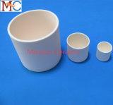 Weiß, das keramisches Teile Leco 528-018 keramischen Tiegel isoliert