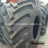 O trator de exploração agrícola eleva e fronteia pneumáticos em 405/70-24