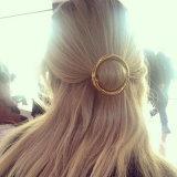 Forcelle rotonde del metallo della clip di capelli di Oro-Colore europeo & americano di modo