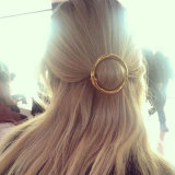 형식 금 색깔 둥근 머리핀 금속 동곳 머리 보석
