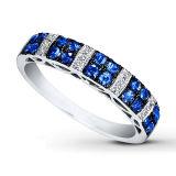 Micro regolazione CZ del diamante degli anelli d'argento blu dei monili 925