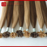 Cor da luz de cabelo humano brasileiro queratina Extensão de cabelo