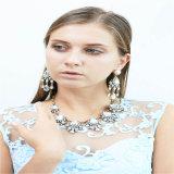 Los nuevos granos de cristal negro piedras de la manera joyería del collar pendiente de la pulsera