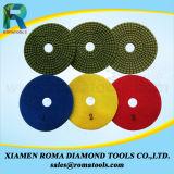Romatools 다이아몬드 닦는 패드는 사용 1500#를 적셨다