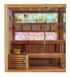 Estilo europeu de luxo de boa qualidade Perder peso seco Sauna com jade amarelo M-6048