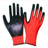 Coated перчатки хлопка безопасности связанные деятельностью