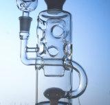 Tubo recto de humo de agua de vidrio con paquete de seguridad