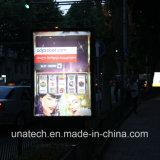Cartelera al aire libre de la bandera de Lightbox del movimiento en sentido vertical del anuncio LED del tren del metro del subterráneo del camino