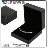Rectángulo de papel plástico del terciopelo de cuero de la calidad y del lujo para el reloj pendiente del regalo del collar de la pulsera del brazalete de los pendientes del anillo de la joyería (YS78)