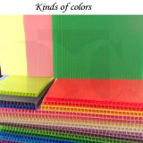 1.7-22mm Colorful PP Hollow Corrugated Board Sheet
