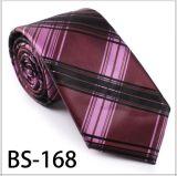 Laço elegante da verificação da seda/poliéster do projeto novo (BS-168)