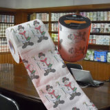 クリスマスのジャンボロールのトイレットペーパーの印刷されたトイレットペーパー