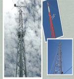 Comunicación de la estructura de acero galvanizado en caliente de la torre Guyed