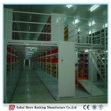 Crémaillère de plaque en acier lourde, étagère d'étage de mezzanine d'entrepôt