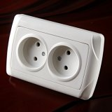 Enchufe de socket doble europeo 2102f