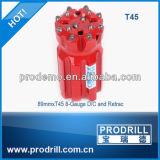 Pedacitos de taladro del botón del hilo de rosca del carburo de tungsteno T38/T45/T51 para la explotación minera