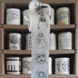El tocador modificado para requisitos particulares limpia el tocador impreso aduana  Tejido de cuarto de baño divertido de papel