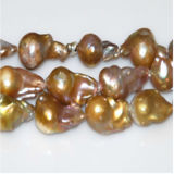 Pink 16インチのかLavender 12-20mm Large Baroque Freshwater Pearls Strands