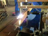 Estaca do plasma do CNC da câmara de ar de Pipe&Square de 8 linhas centrais e maquinaria de chanfradura