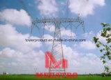 500kv Toren van de Transmissie van de Kring van de raaklijn de Dubbele Compacte met Gespleten Leider Zes
