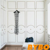 Alta moda de la puerta de armario lacado en blanco brillante (S-5)