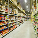 H는 미국식 슈퍼마켓 선반 또는 저장 선반을 타자를 친다