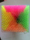 Paja de plástico, paja flexible de neón