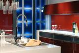 2018 Австралия стиле красный глянцевый лак MDF кухонные шкафы