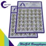Bianco del pulsante 4# del metallo di placcatura del Hua Tai
