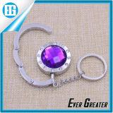 다채로운 다이아몬드 접히는 지갑 핸드백 훅 걸이 홀더