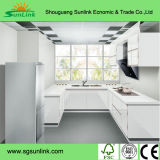Haut brillant porte armoire de cuisine en acrylique avec le bord le baguage (zhuv)