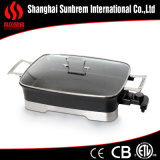 Kooktoestel van Skillet& Fryingpan niet van de Stok van het aluminium het Elektrische
